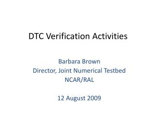 DTC Verification Activities