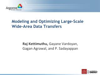 Modeling and Optimizing Large-Scale Wide-Area Data Transfers