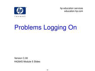 Problems Logging On
