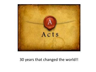 30 years that changed the world!!