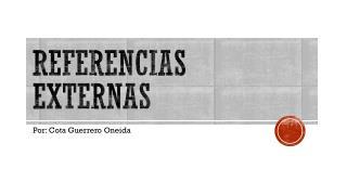 REFERENCIAS EXTERNAS