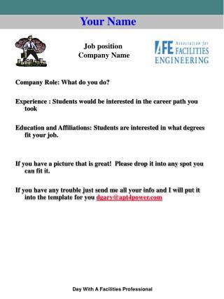 Company Role: What do you do?