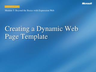 Creating a Dynamic Web Page Template