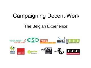 Campaigning Decent Work