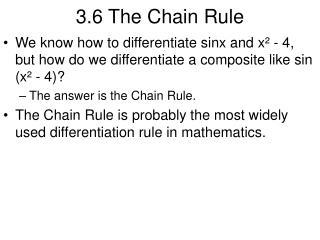 3.6 The Chain Rule