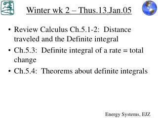 Winter wk 2 � Thus.13.Jan.05