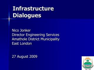 Infrastructure Dialogues