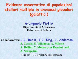 Evidenze osservative di popolazioni stellari multiple in ammassi globulari (galattici)