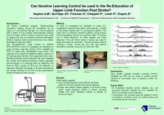 Can Iterative Learning Control be used in the Re-Education of