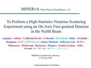 MINER n A  (Main INjector ExpeRiment v-A)