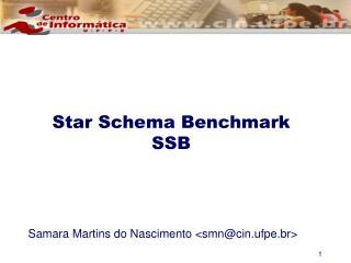 Star Schema Benchmark SSB