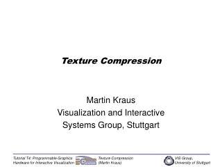 Texture Compression
