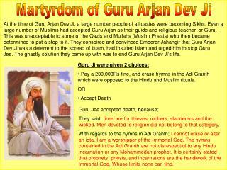 Martyrdom of Guru Arjan Dev Ji