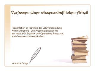 Verfassen einer wissenschaftlichen Arbeit