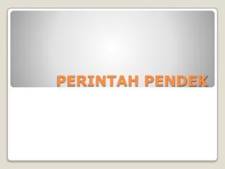 PERINTAH PENDEK
