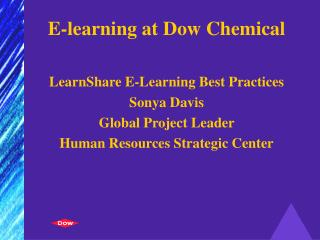 E-learning at Dow Chemical