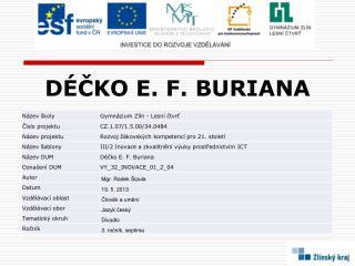 DÉČKO E. F. BURIANA