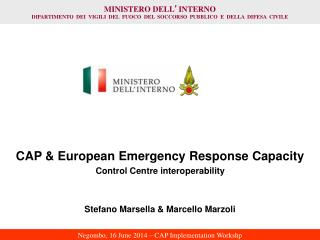CAP & European Emergency Response Capacity Control Centre interoperability
