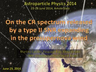 On the CR  spectrum released by  a  type  II SNR  e xpanding in the  presupernova wind
