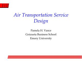 Air Transportation Service Design