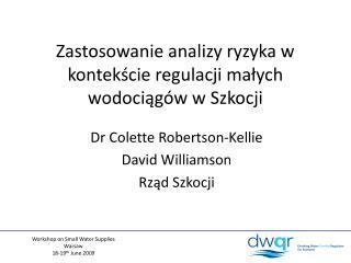 Zastosowanie analizy ryzyka w kontekście regulacji małych wodociągów w Szkocji