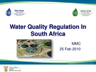 Water Quality Regulation In South Africa