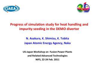 N. Asakura, K. Shimizu, K. Tobita Japan Atomic Energy Agency, Naka