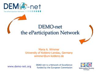 DEMO-net  the eParticipation Network