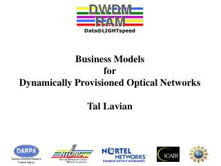 Business Models for Dynamically Provisioned Optical Networks Tal Lavian