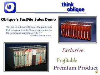 Oblique's FastFile Sales Demo