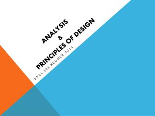 Analysis & principles of design
