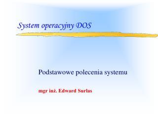 System operacyjny DOS