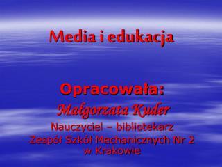 Media i edukacja