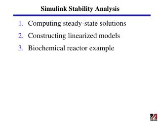 Simulink Stability Analysis