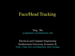 Face/Head Tracking