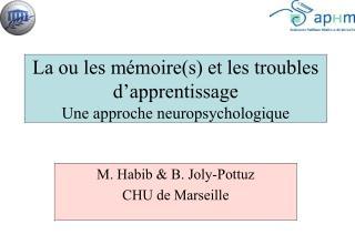 La ou les mémoire(s) et les troubles d'apprentissage Une approche neuropsychologique