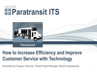 Paratransit ITS