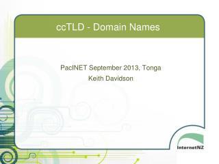 ccTLD - Domain Names