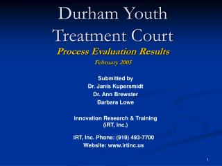 Durham Youth Treatment Court