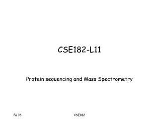 CSE182-L11