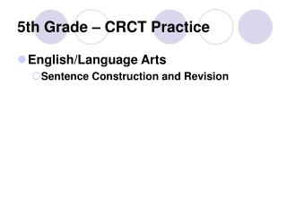 5th Grade – CRCT Practice