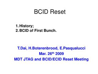 BCID Reset