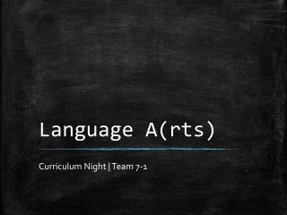 Language A(rts)