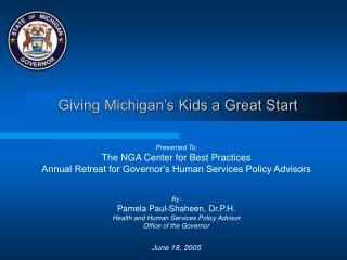 Giving Michigan's Kids a Great Start