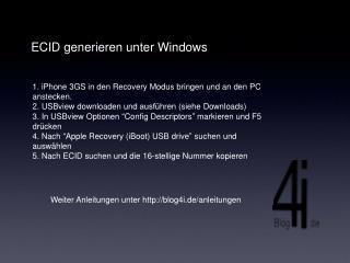 ECID generieren unter Windows