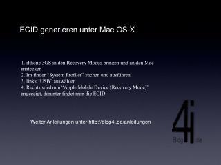 ECID generieren unter Mac OS X