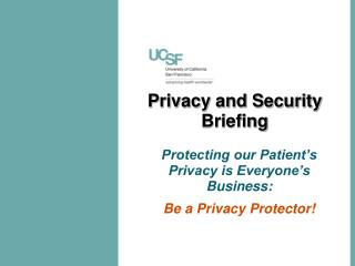 Privacy and Security Briefing