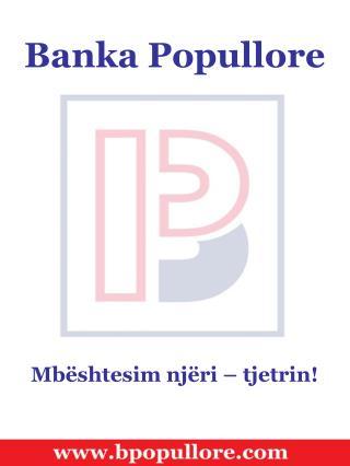 Banka Popullore