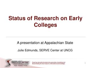 Status of Research on Early Colleges