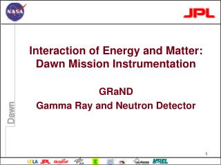 Interaction of Energy and Matter: Dawn Mission Instrumentation